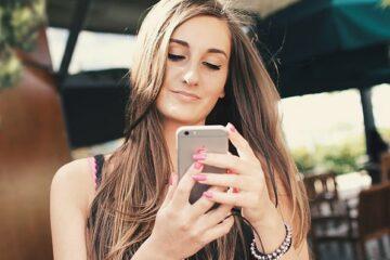 hot girl using chat app