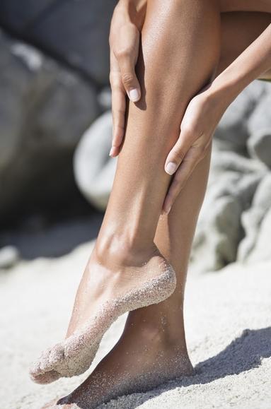 shaven legs of girl